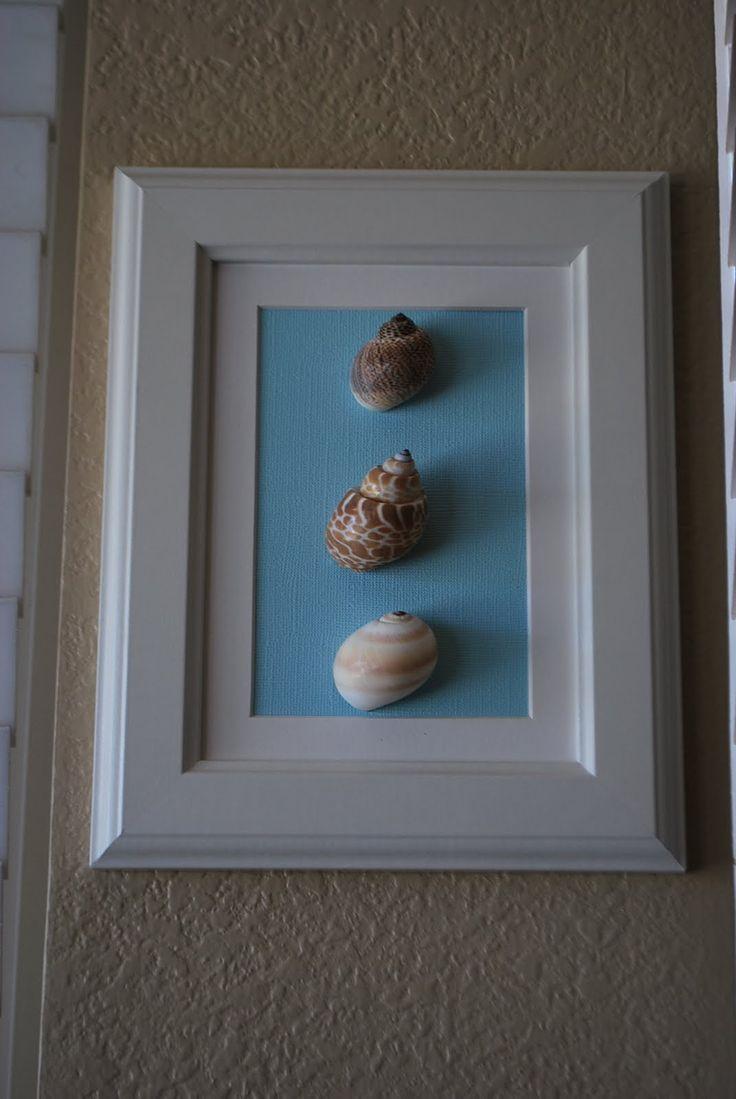 Sea shell crafts {bathroom w/ Costa Rica shells}