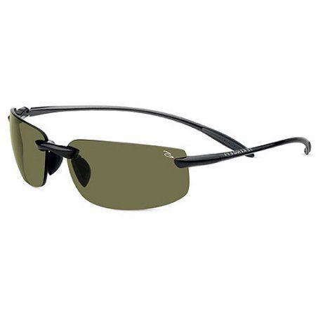 Serengeti Sunglasses Lipari Shiny Hematite, Men's, Black