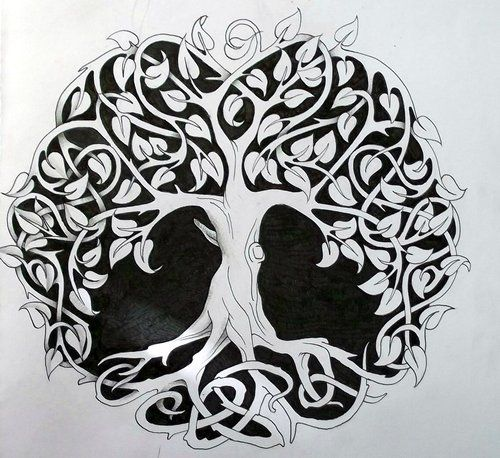 Celtic tree of life http://tattoo-design.deviantart.com/art/Celtic-tree-of-life-1-264733790                                                                                                                                                     More