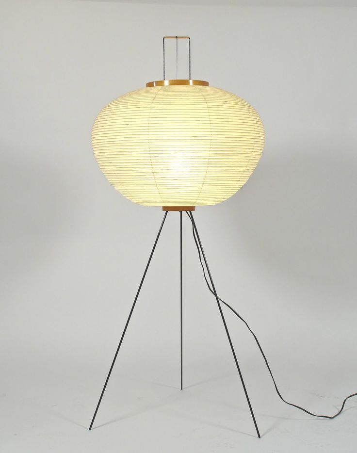 Isamu Noguchi . tripod floor lamp, 1960s
