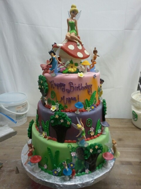 17 best images about fairy garden cakes and cupcakes ideas for Fairy garden birthday cake designs