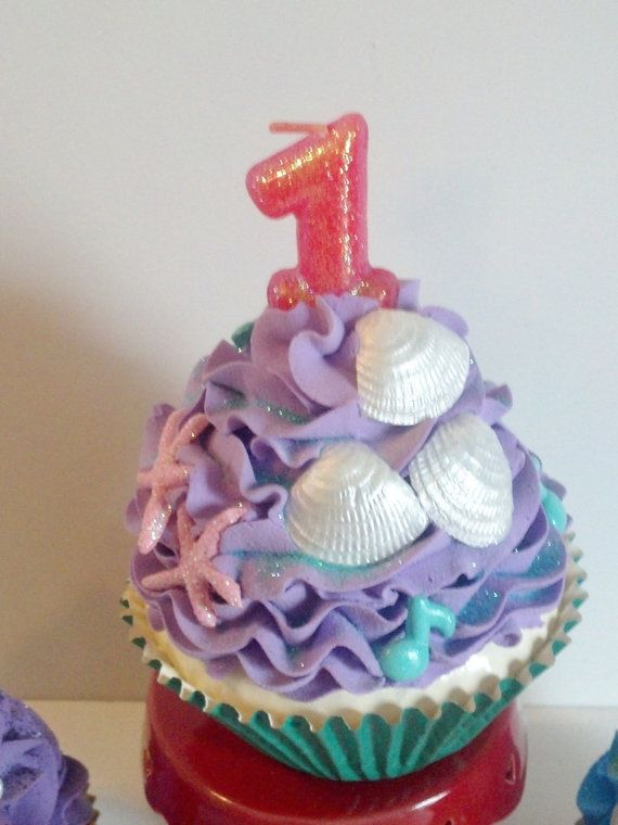 Little Mermaid Inspired First Birthday by FakeCupcakeCreations, $19.00