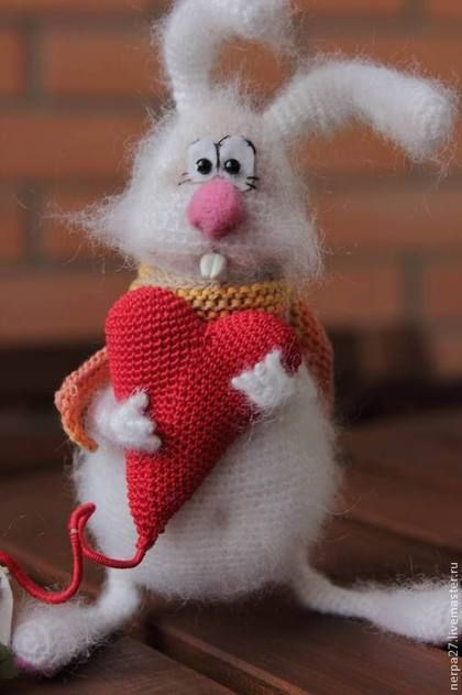 Игрушки животные, ручной работы. Ярмарка Мастеров - ручная работа Влюбленный заяц. Handmade.