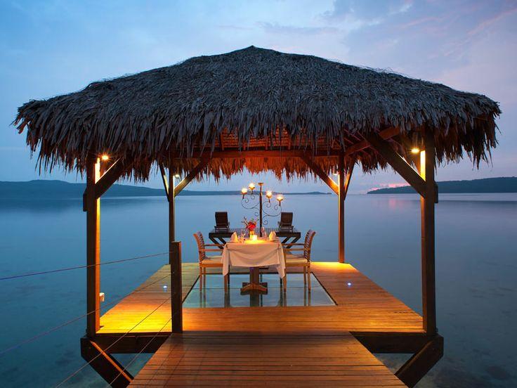 Romantic dining experience at The Havannah, Vanuatu  www.islandescapes.com.au