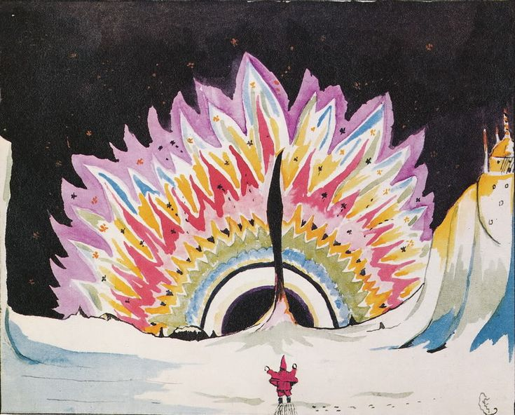 Another beautiful illustration from 'Father Christmas Letters' by J.R.R Tolkien, himself! This one's the cover art.