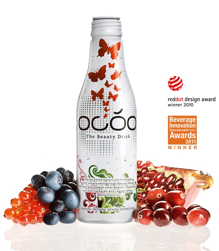 OCÓO - The Beauty Drink is your daily serving of beauty. Scientifically proven, deliciously fruity and light with only 48 calories per 250 ml bottle.