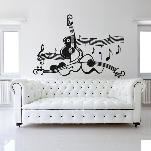 01039 Wall Stickers Sticker wall paper Adesivi Murali Orchestra by Adesivimurali on Etsy https://www.etsy.com/listing/198175497/01039-wall-stickers-sticker-wall-paper