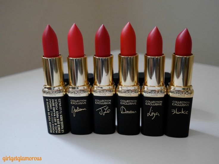 L Oreal Collection Exclusive 2015 Red Lipsticks Polishes