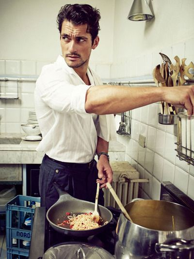 David Gandy - and it looks like he can help with the cooking....#mannafromdevon #comeoverforsupper
