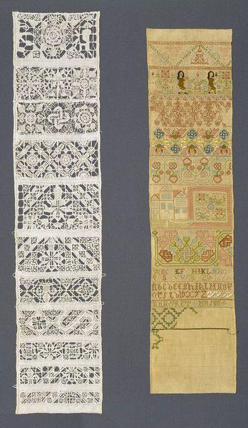 British Sampler embroidered 1650-1675