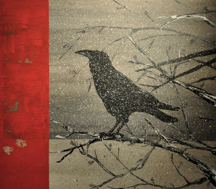 """acidic said the raven rowan berries""  / Acrylic on Canvas"