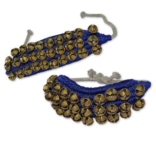 Ghungroo Set, Three Lines Bells Mounted on Good Quality Blue Pads DakshCraft http://www.amazon.com/dp/B008HMW664/ref=cm_sw_r_pi_dp_yT4rub17Z75WZ