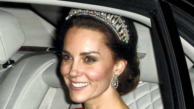 Ved en stor officiel begivenhed på Buckingham Palace bar hertuginde Catherine af Cambridge et helt særligt diadem.