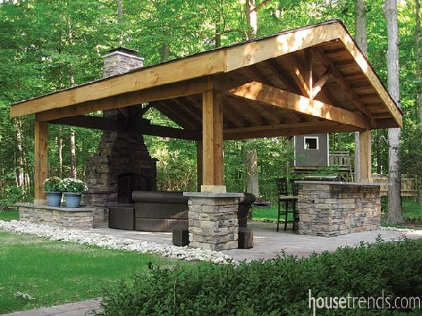 pavilion blends in well with nature - Patio Pavilion Ideas