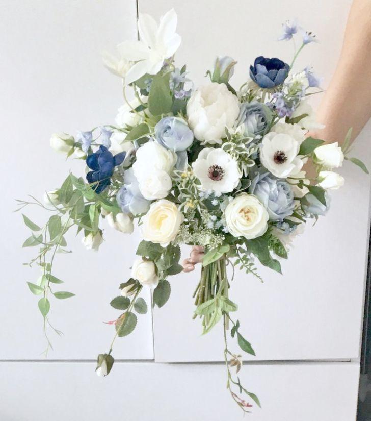 Wedding Flower Bouquet Fake Only Wedding Bouquet Fabric Flowers
