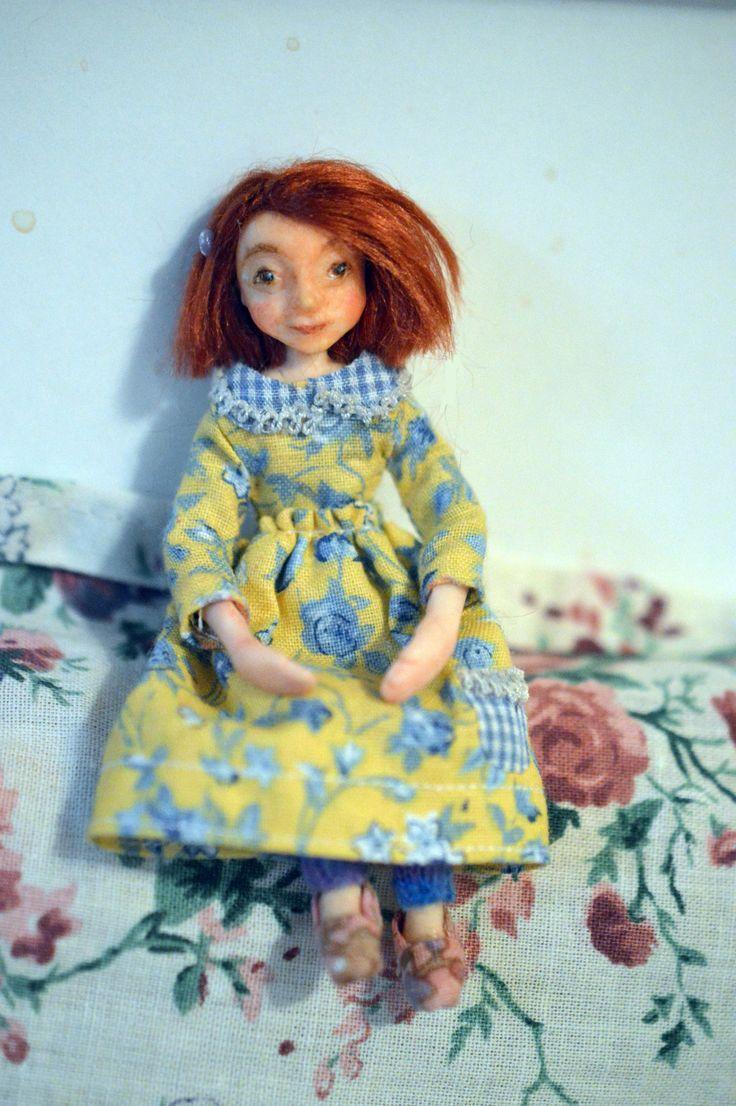 "1:12 scale doll ""Vilmiina"" by Saara Vallineva"