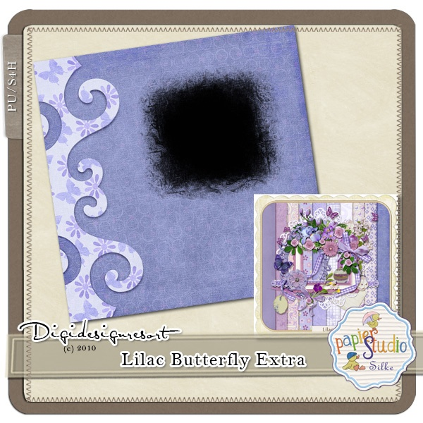 Newsletter Freebie - only a few days!! Hurry!! Lilac Butterfly Extra (PU/S4H) by Papierstudio