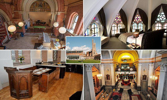 Holy night! The hotels inside converted places of worship