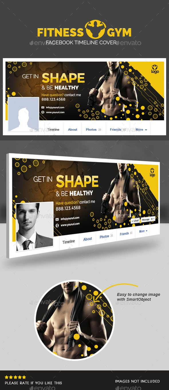 Fitness Facebook Timeline Cover Template PSD #design Download: http://graphicriver.net/item/fitness-facebook-timeline-cover/14504657?ref=ksioks