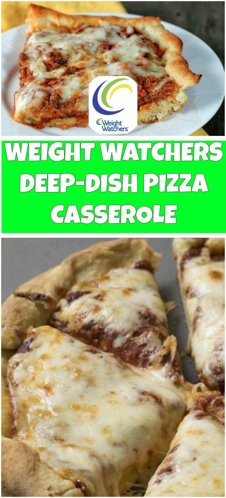 DEEP-DISH PIZZA CASSEROLE – WEIGHT WATCHERS SMARTPOINTS | free smart points recipes