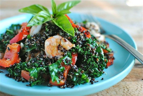 Black Quinoa with Shrimp and a lot of Other Healthy Stuff.