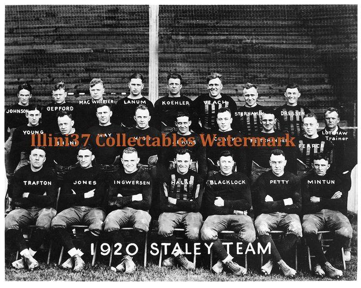 1920 DECATUR ILLINOIS STALEYS 8X10 GLOSSY PHOTO GEORGE HALAS  #DecaturStaleysChicagoBears