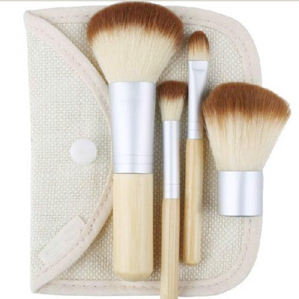 Cheap tool magnetic, Buy Quality brush packaging directly from China brush shaft Suppliers: 1set/4Pcs Professional Foundation Make up Bamboo Brushes Kabuki Makeup Brush Cosmetic Set Kit Tools Eye Shadow Blush Bru