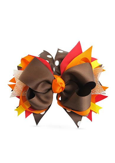 Festive and vibrant, this charming Thanksgiving bow is the perfect addition to your little lady's accessory collection. Simply place it in her hair for a sweet finishing touch!