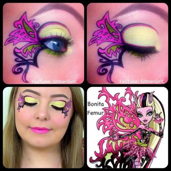 Monster High Bonita Femur makeup. Youtube channel: full.sc/SK3bIA