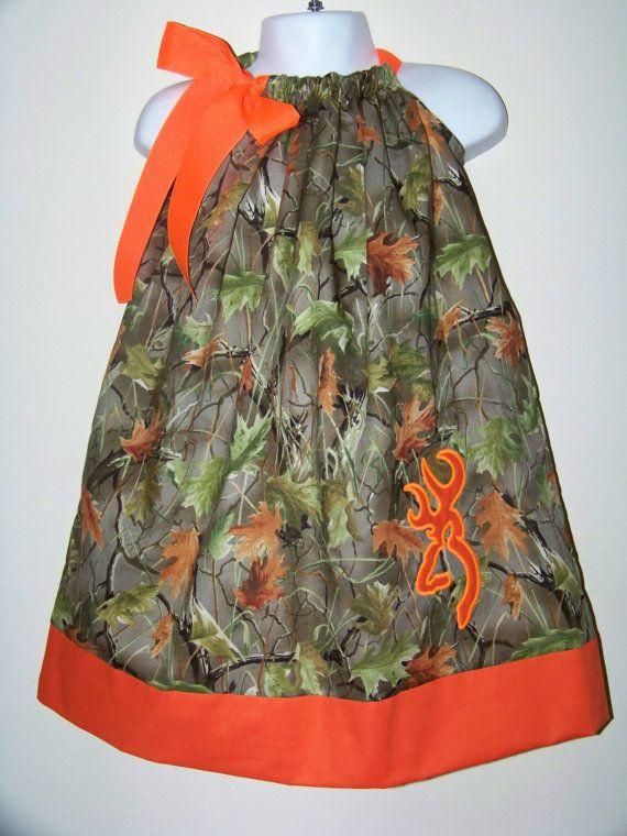 CAMO Pillowcase Dress / Realtree + Orange / Deer / Flower ...