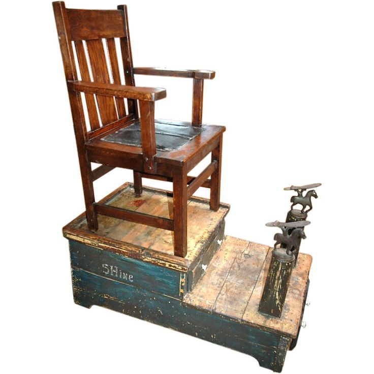 Shoe Shine Stand Folk Art Furniture And Shoes - Shoeshine Chair Shoe Shine Chair Stand. Collins Equipment Collins