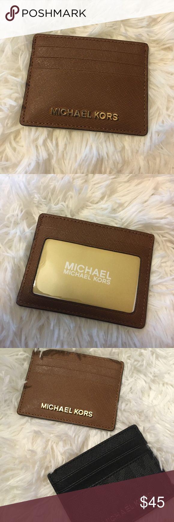 New Michael Kors jet set card holder leather New Michael Kors jet set card holder leather  Retail 68$   Brown Michael Kors Bags Wallets