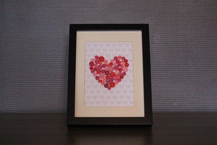 DIY #26 Cadre coeur en boutons