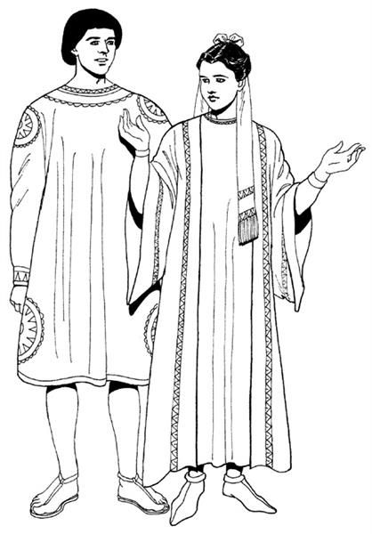 Костюмы мужские рим 1 век