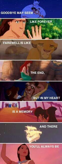 I just cried.: Words from the Fox and thr Hound, I think.