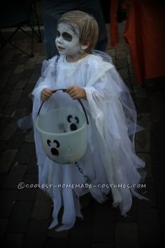Spooky Ghost Halloween Costume for a Toddler                              …