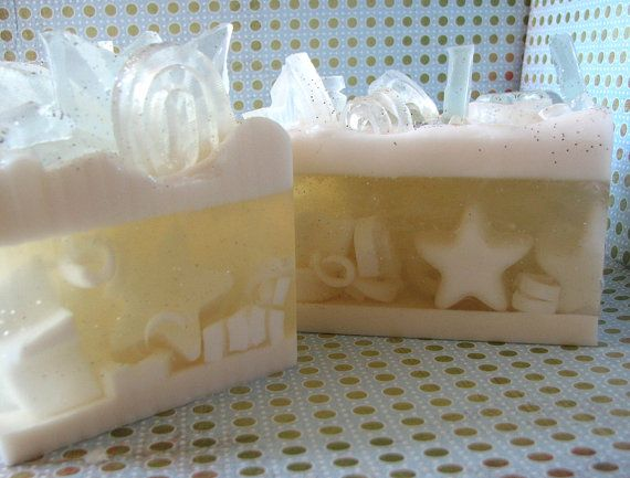 Tinsel - Handmade Glycerin Soap - Clear Holiday Star Soap - Soap Loaf - Natural Soap - Bath and Body