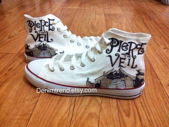 Pierce The Veil Shoes, hand painted converse