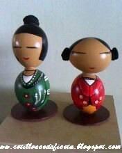 Figuras hechas con cáscaras de huevo