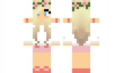 minecraft skin Cute-Flower-Girl Find it with our new Android Minecraft Skins App: https://play.google.com/store/apps/details?id=the.gecko.girlskins