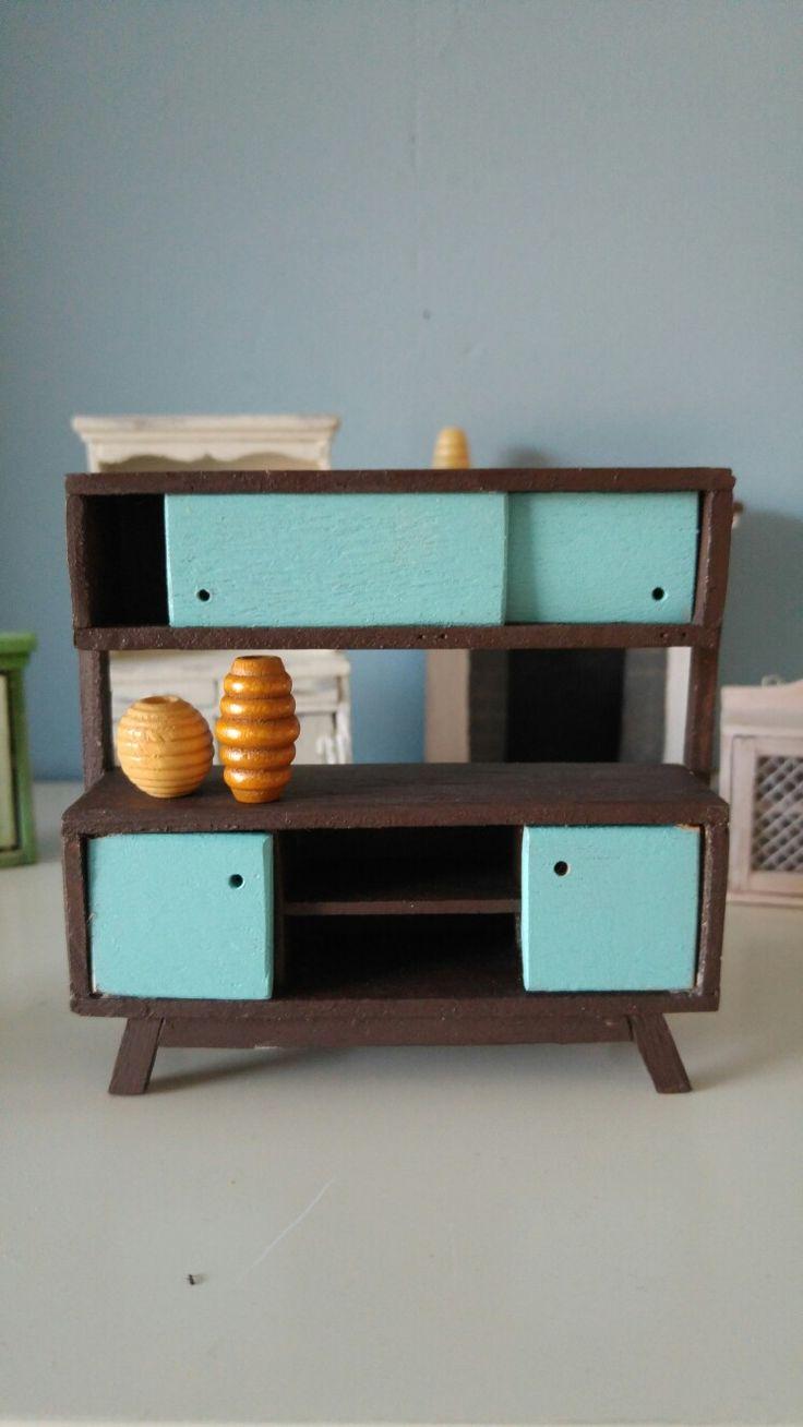1:24 modern cabinet. 28-11-2016. 5th piece of miniature furniture I ever made.