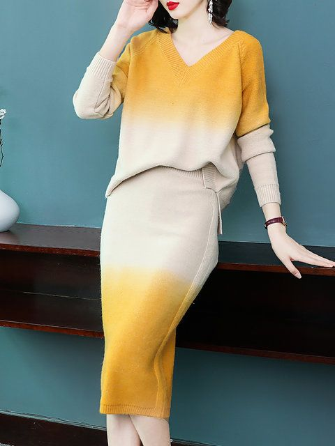 Buy Elegant Two-piece Set For Women from Tiana at Stylewe. Online Shopping  Stylewe Elegant Two-Piece Set For Women Yellow Purple Coffee Printed dyed  Outfits ... e1821c440f