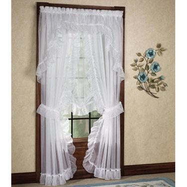 Jessica Ninon Ruffled Priscilla Curtains -also has a balloon shade-22.99 - Touch of class.com