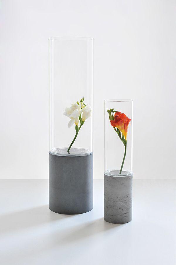 Tomas Vacek | Vase | Flower | Concrete product design | Concrete design | Beton…