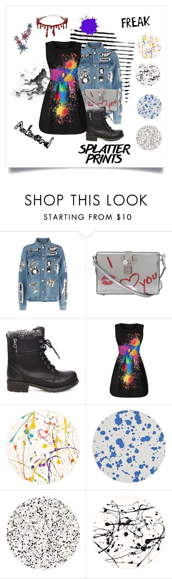 """Splat"" by devrene ❤ liked on Polyvore featuring Frame, Dolce&Gabbana, Steve Madden, Lisa Perry, Tisch New York and Joanna Laura Constantine"