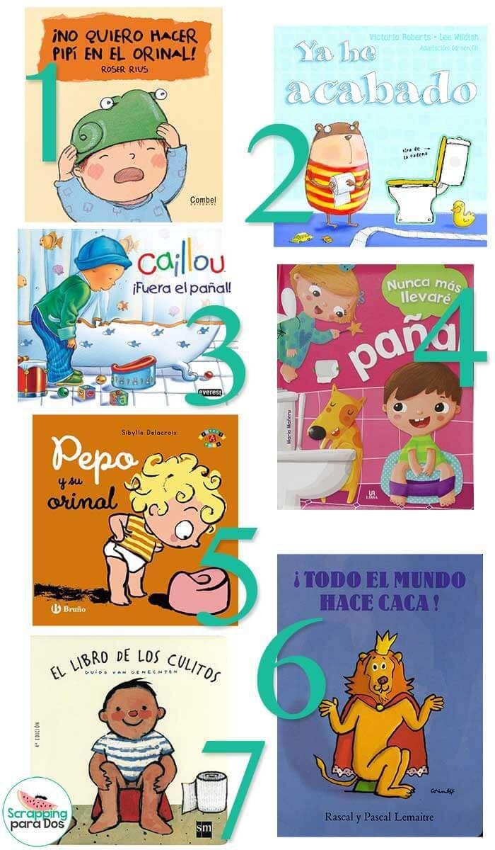 Cuentos para Dejar el Pañal, libros y cuentos ilustrados y con actividades para que los niños aprendan a dejar el pañal y usar el orinal o el baño solos