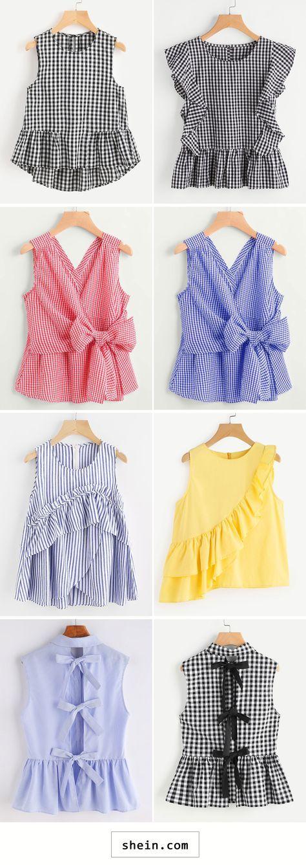 Sleeveless tops for summer