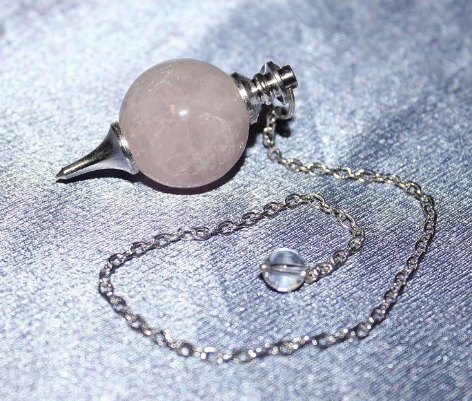 Rose Quartz Ball Pendulum