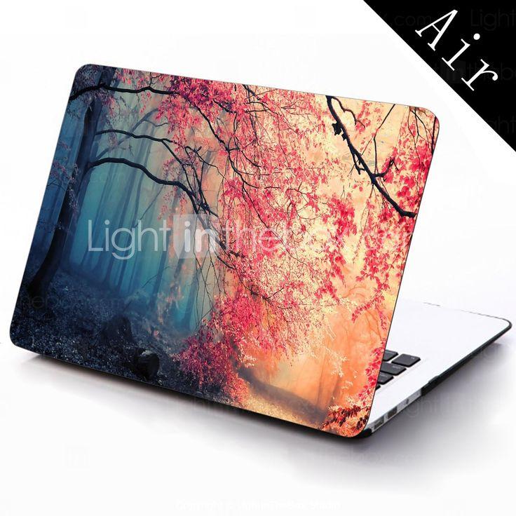 pink efterårsskov design hele kroppen beskyttende plastic tilfældet for 11-tommer / 13 tommer nye Mac Book luft 2015 – €196.00