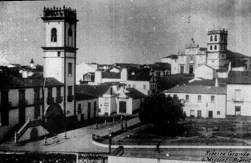 1950s, Largo Hintze, Cidade da Ribeira Grande, Ilha de São Miguel   ● Centro da Cidade da Ribeira Grande.